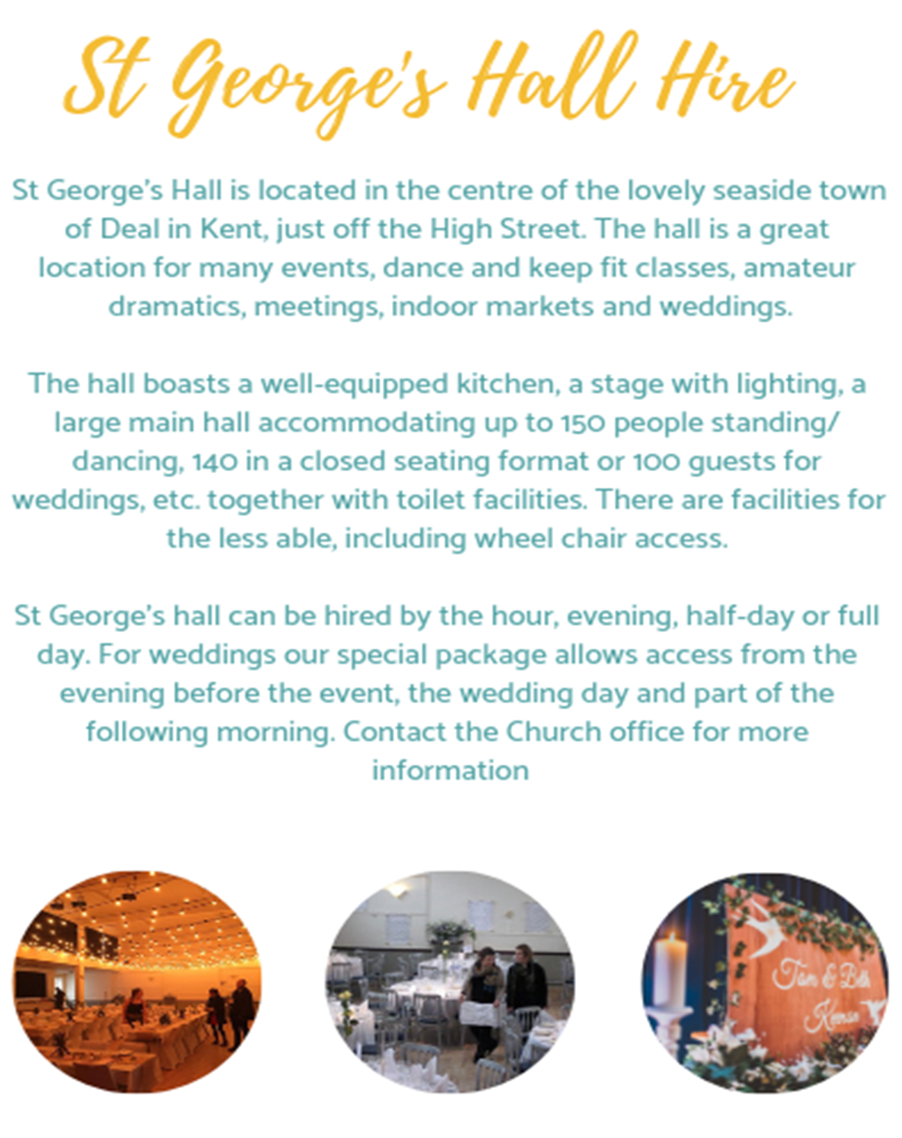 st gs hall hire